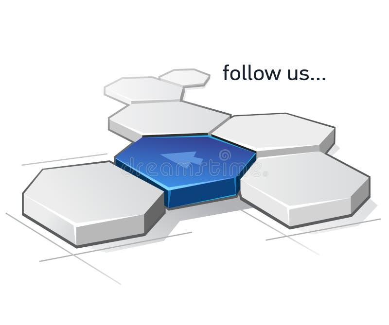 Volg ons vector illustratie