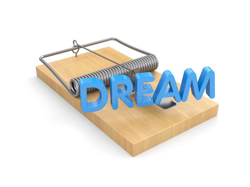 Volg Uw Dromen vector illustratie