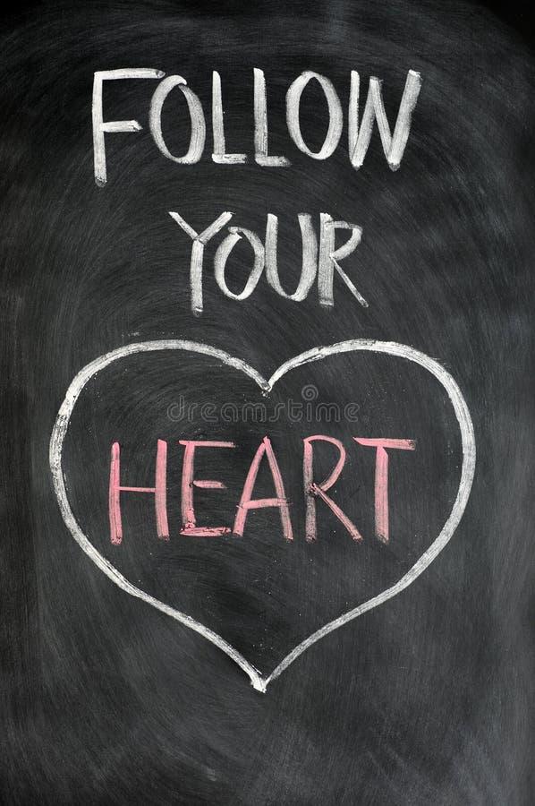 Volg uw hart royalty-vrije stock afbeeldingen