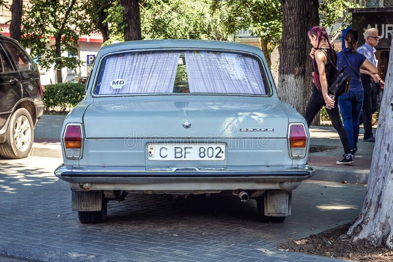 Volga car in Chisinau stock photos