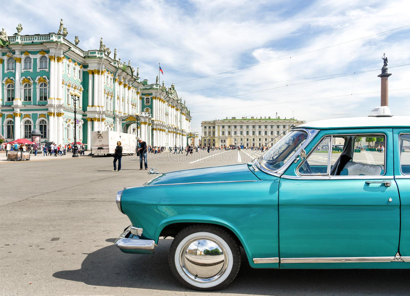 Volga GAZ-21 - vintage car royalty free stock image