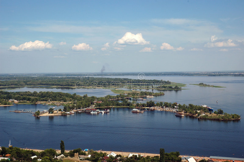 Volga open spaces. royalty free stock photo