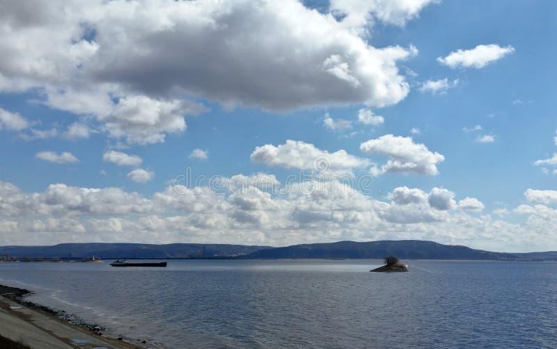 Volga rivierruimten stock afbeelding