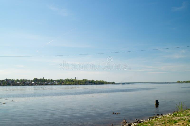 Volga rzeka zdjęcia stock