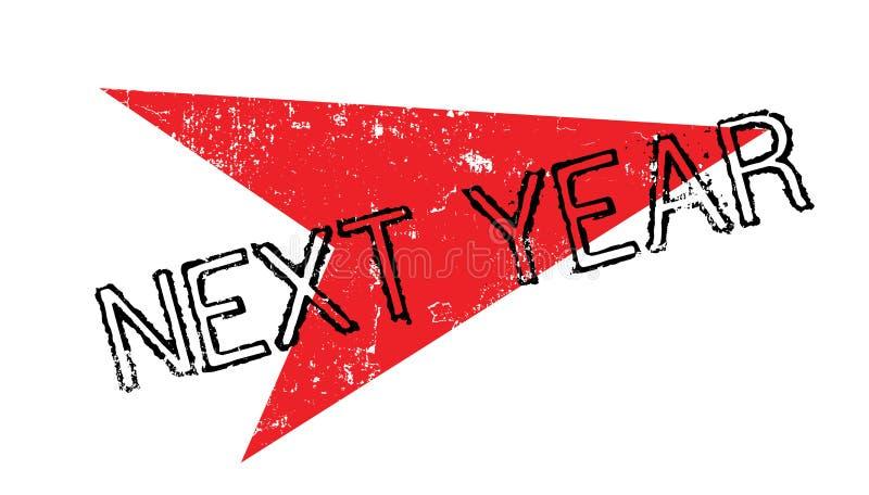 Volgend jaar rubberzegel stock illustratie