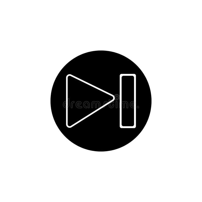 Volgende media spelerpictogram De tekens en de symbolen kunnen voor Web, embleem, mobiele toepassing, UI, UX worden gebruikt stock illustratie
