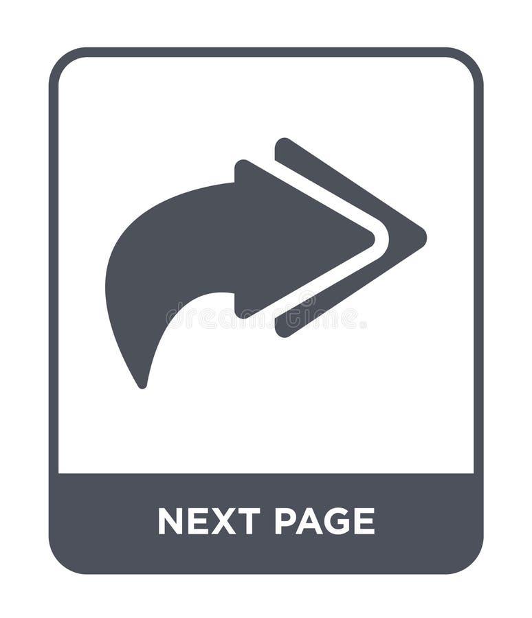 volgende paginapictogram in in ontwerpstijl volgende die paginapictogram op witte achtergrond wordt geïsoleerd de volgende eenvou royalty-vrije illustratie