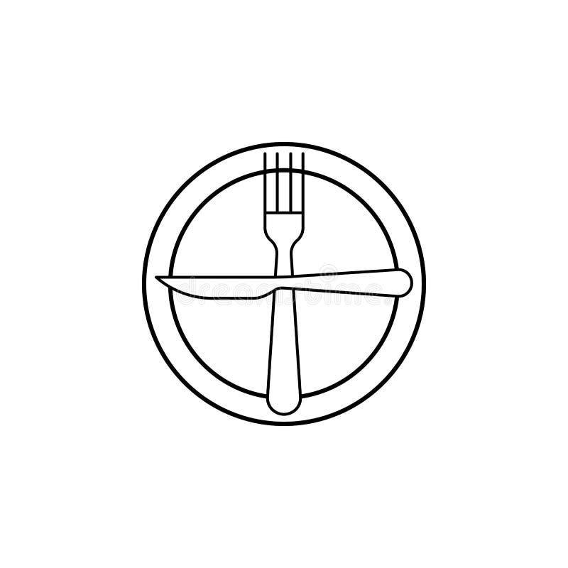 Volgende schotel, het pictogram van de lijstetiquette Kan voor Web, embleem, mobiele toepassing, UI, UX worden gebruikt vector illustratie