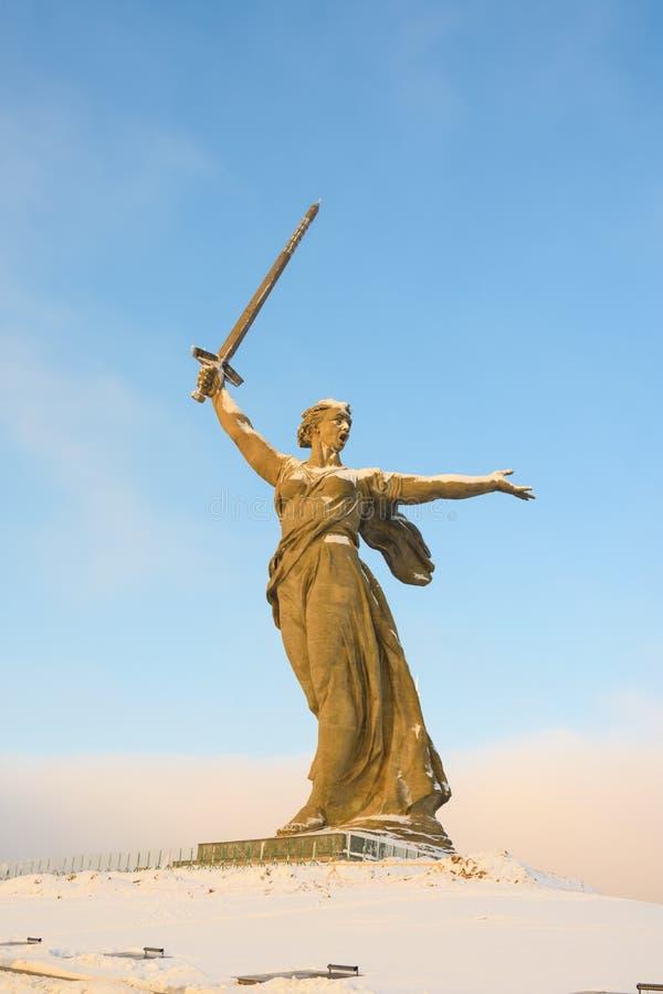 volgograd Россия - 3-ье февраля 2019 скульптура стоковые фотографии rf