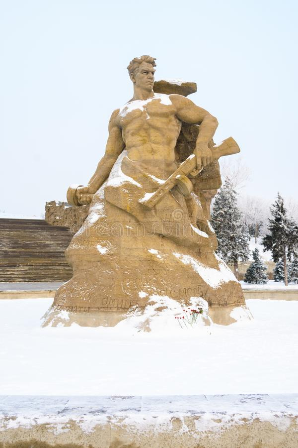 volgograd La Russie - 3 février 2019 Le complexe commémoratif sur Mamayev Kurgan à Volgograd, sculpteur Yevgeny Vuchetich place photos libres de droits