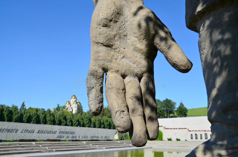 Volgograd Mamayev Kurgan royaltyfri foto