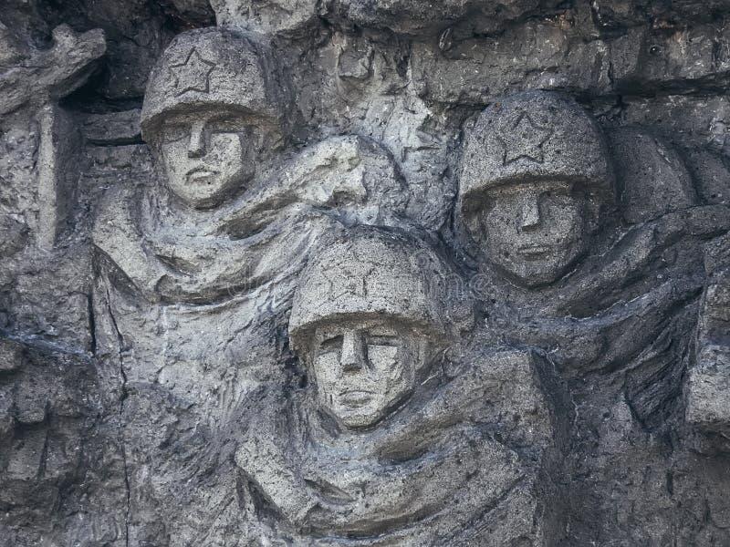 Volgograd, Rússia, - em maio de 2011: um fragmento de um monumento imagens de stock royalty free