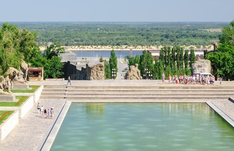 Volgograd, Russia - 1° giugno 2019: Volgograd Mamaev Kurgan fotografia stock