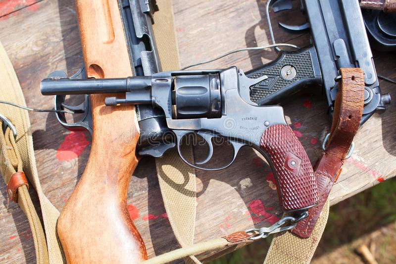 Gun revolver royalty free stock photography