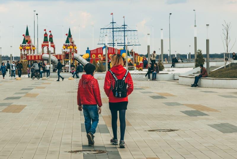 Volgograd / Russia-April 2019: walk around the city royalty free stock photos
