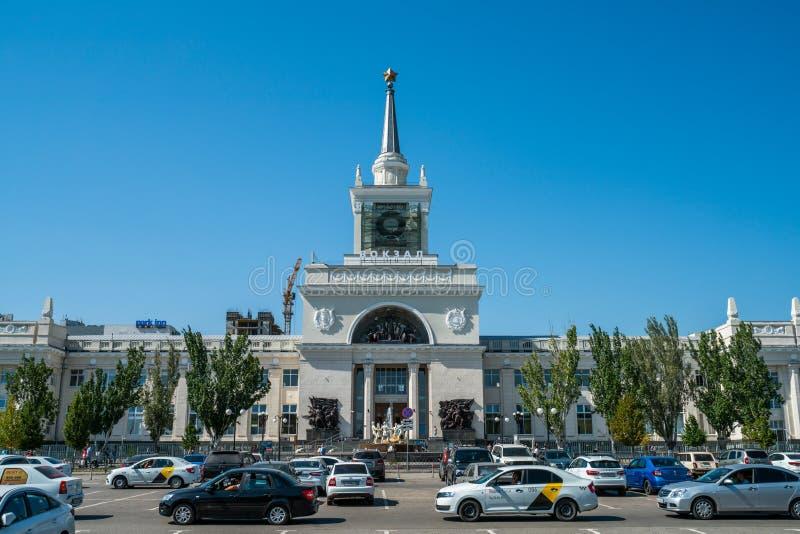 Volgograd, Russia - August 21, 2019: railway station Volgograd 1 stock images
