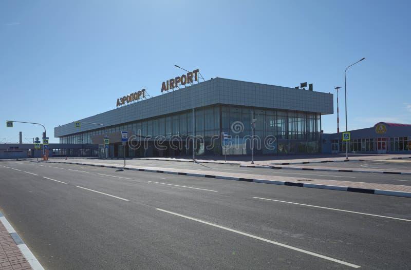 VOLGOGRAD, RUSSIA - 28 MAGGIO 2018: Aeroporto internazionale di Gumrak immagini stock libere da diritti