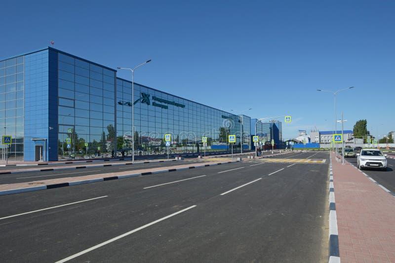 VOLGOGRAD, RUSSIA - 28 MAGGIO 2018: Aeroporto internazionale di Gumrak immagine stock libera da diritti