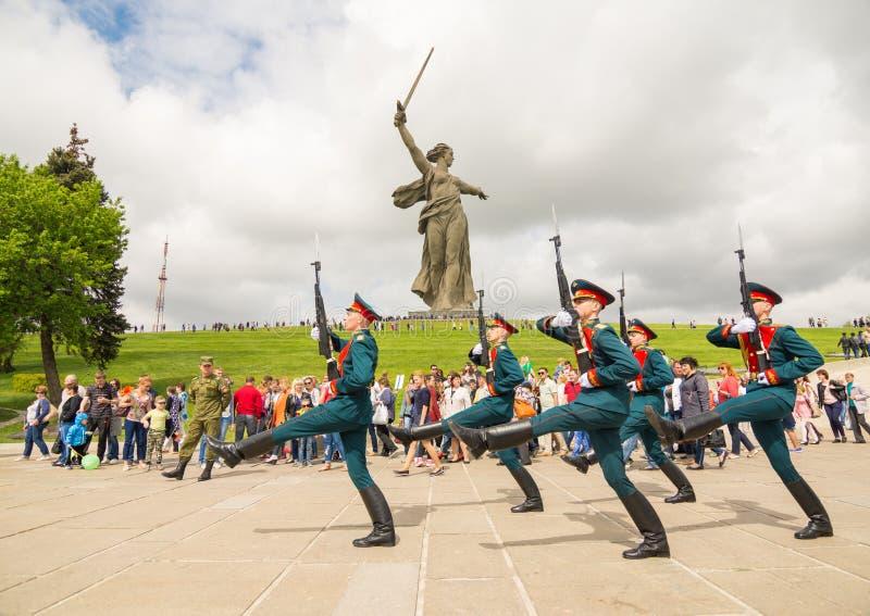 volgograd Russie 9 mai 2017 La chapelle orthodoxe sur le mémorial militaire de cimetière sur la colline de Mamayev à Volgograd images libres de droits