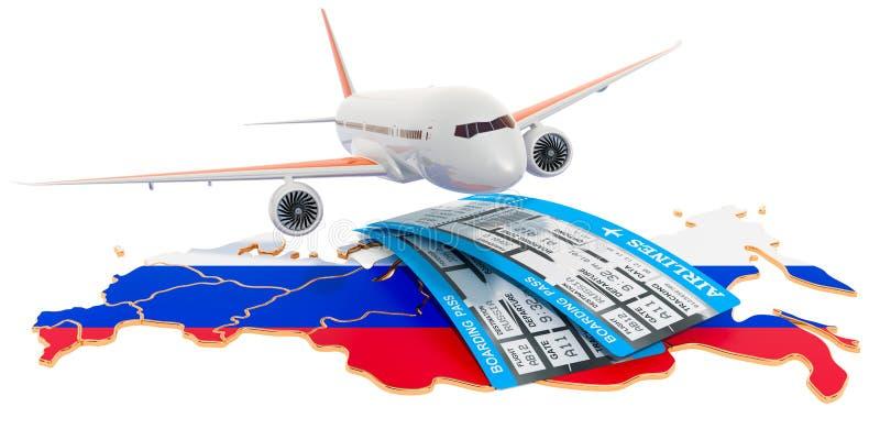 Voli al concetto della Russia rappresentazione 3d illustrazione vettoriale