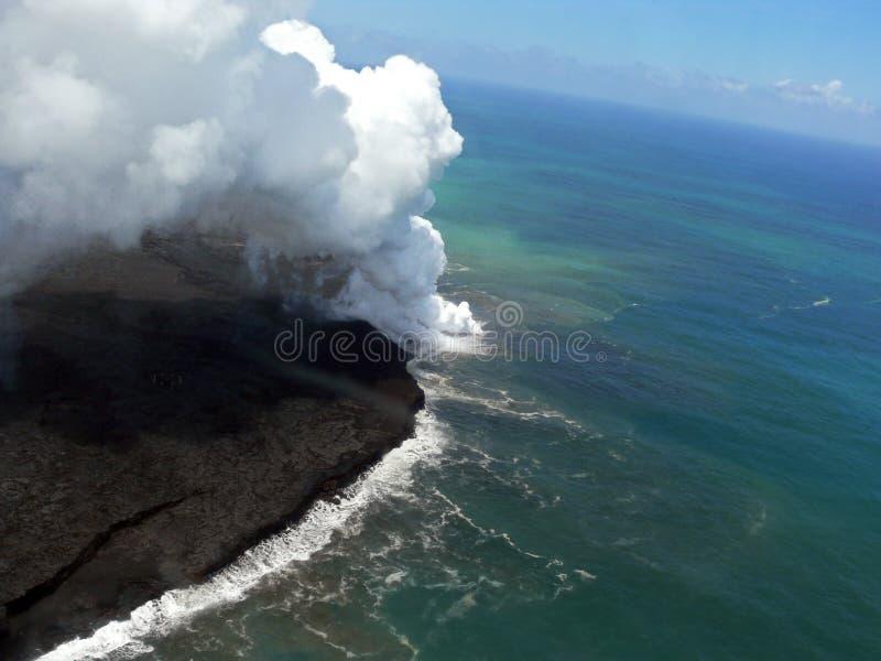 Volkano in Hawaii stock image
