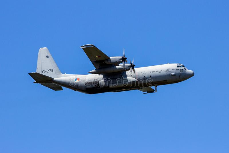C130 hercules military transport plane stock photography