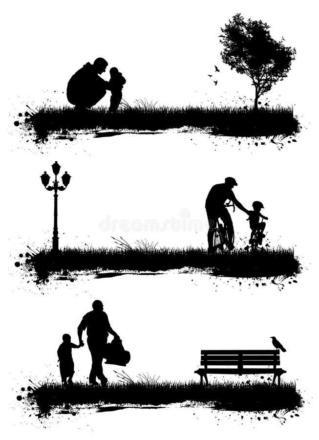 Volkeren in het park stock illustratie