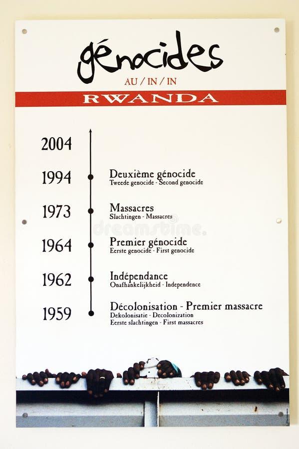 Volkerenmoorden in Rwanda royalty-vrije stock afbeeldingen