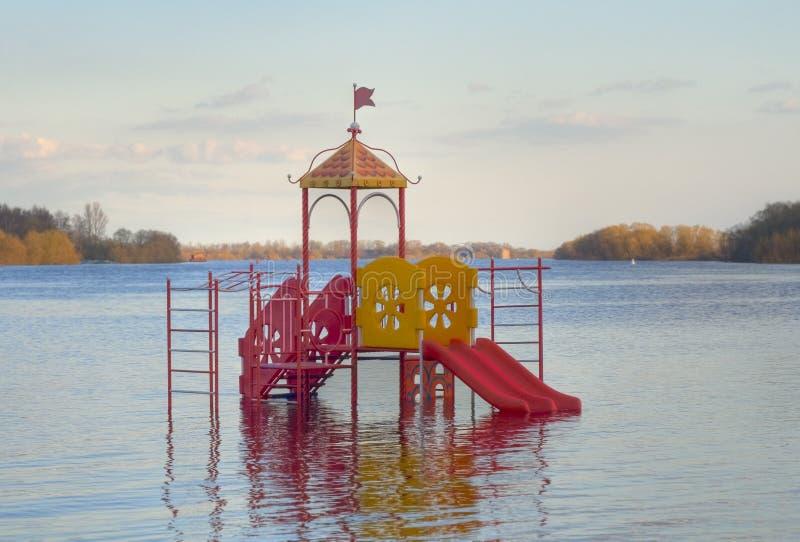 Volkhov河,诺夫哥罗德的溢洪道伟大 免版税库存照片
