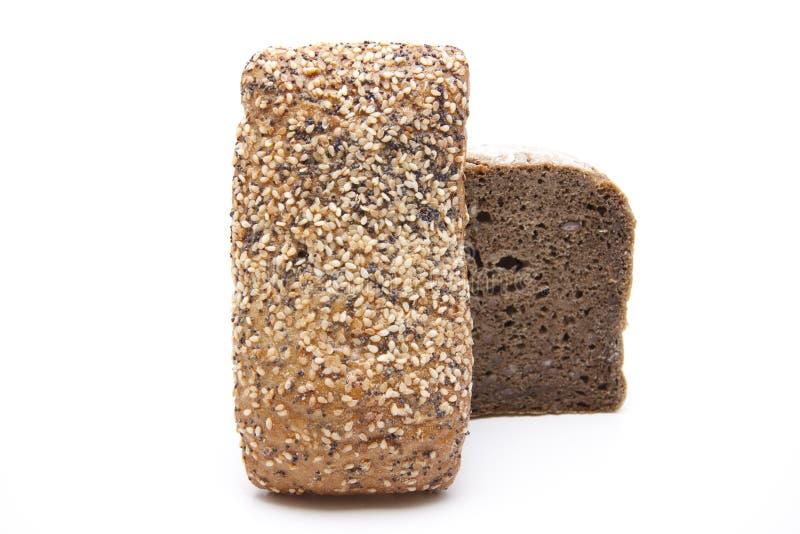 Volkorenbrood met broodje royalty-vrije stock afbeelding