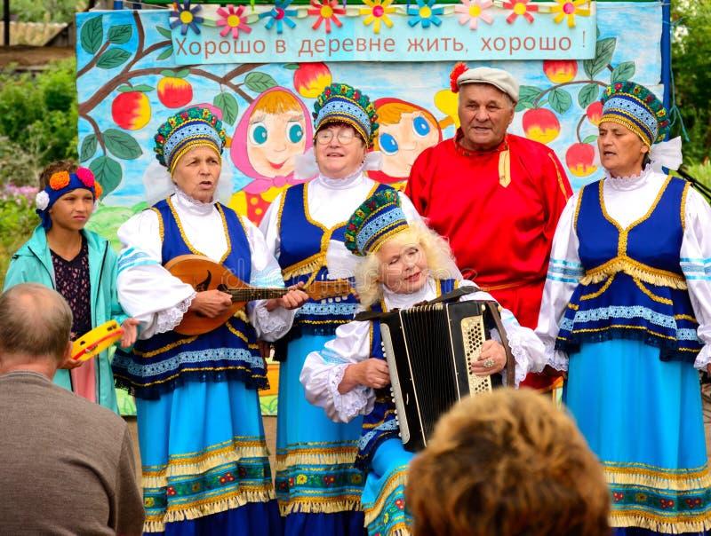 Volks amateurensemble van Russisch volkslied stock afbeelding
