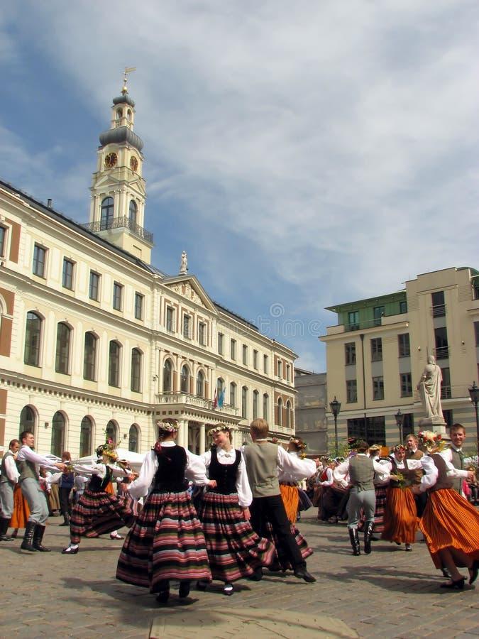 Volks dansers royalty-vrije stock foto's