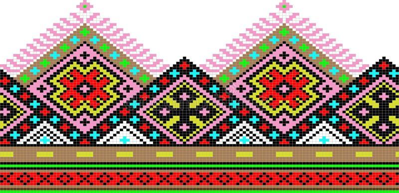 Volks ornament stock illustratie