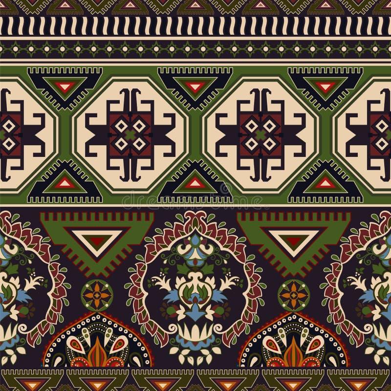 Volks sier naadloos patroon Geometrisch etnisch behang, kleurrijke achtergrond royalty-vrije illustratie