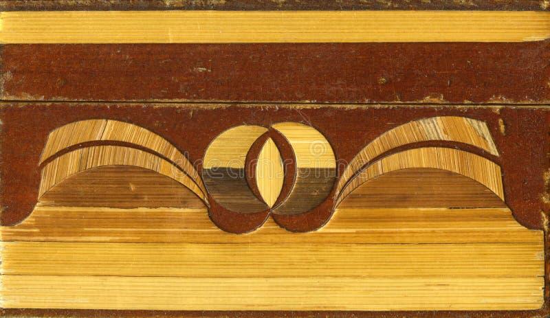 Volksambachten van Rusland het nationale volks decoratieve toegepaste art. ingelegde houten stroken royalty-vrije stock foto