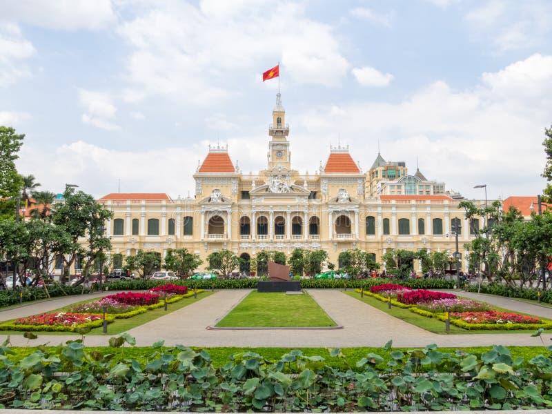Volkscomité Building - Ho Chi Minh City stock foto