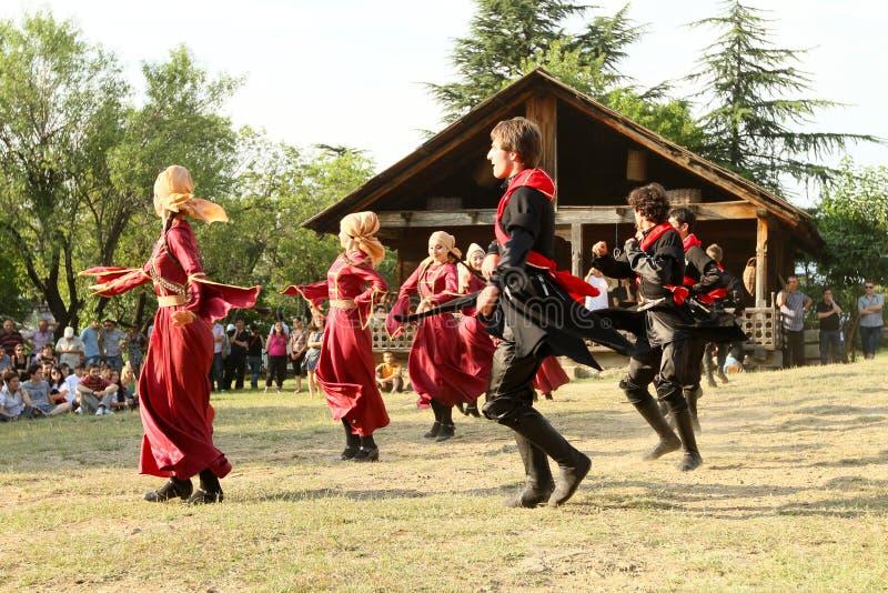 Volkskunst-Gen-Festival in Georgia stockbild