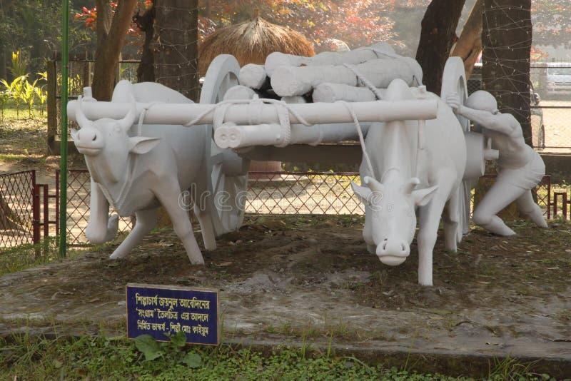 Volkskunst- und Handwerksmuseum Sonargaon stockbild
