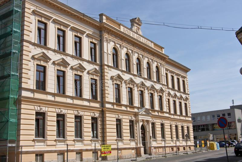 Volksschule, Rokycany, Tschechische Republik lizenzfreie stockbilder