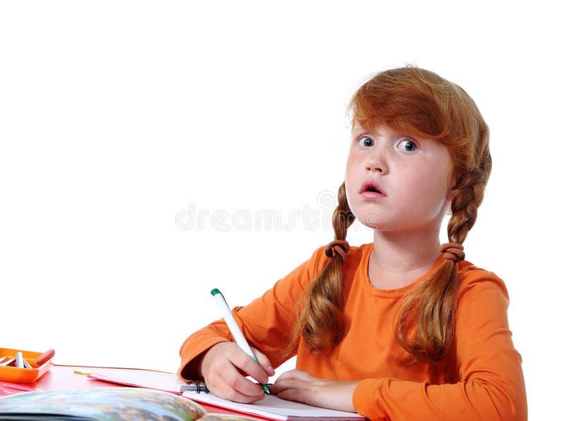 Volksschulemädchen lizenzfreies stockfoto