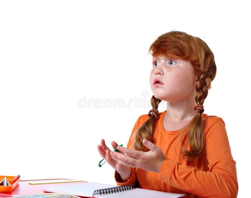 Volksschulemädchen lizenzfreies stockbild