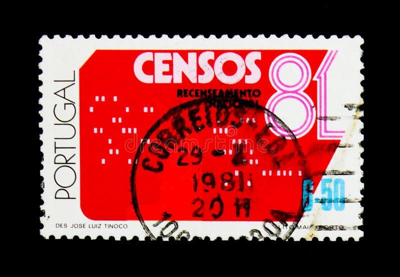 Volkstelling, serie di censimento, circa 1981 fotografie stock
