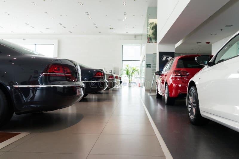 Volkswagen-Auto voor verkoop stock afbeeldingen