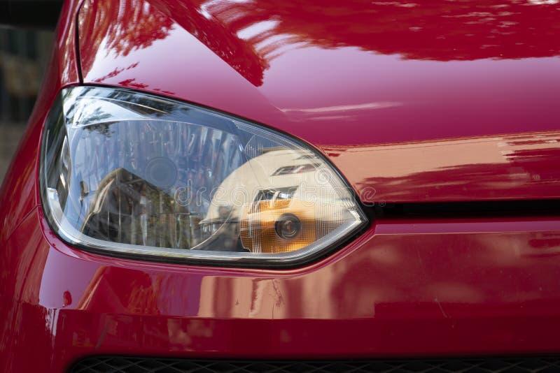 Volkswagen-autokoplamp, vooraanzicht stock foto's