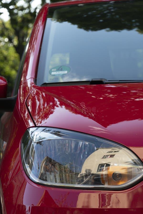 Volkswagen-autokoplamp, vooraanzicht stock afbeelding