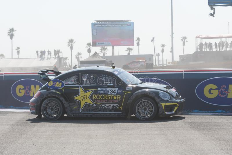 Volkswagen Beetle управляемое #34 Tanner Foust стоковые изображения