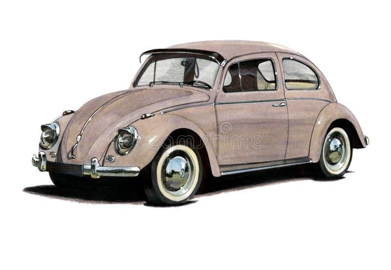 Volkswagen Beetle illustrazione vettoriale