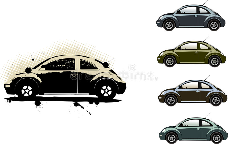 Volkswagen Beetle vector illustration