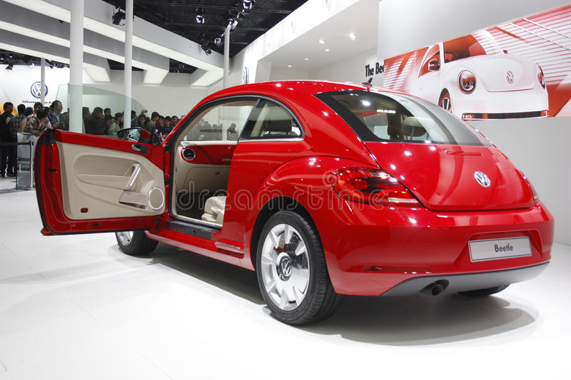 A Volkswagen Beetle On Display At Auto Expo 2012 Editorial Image