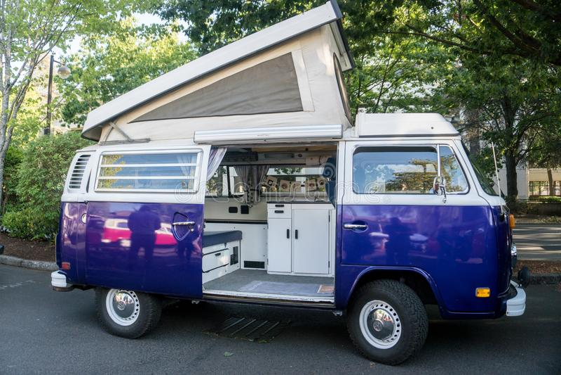Volkswagen Bus Camper van. stock images
